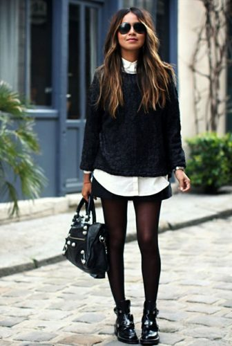 Look glamour avec des notes de rock