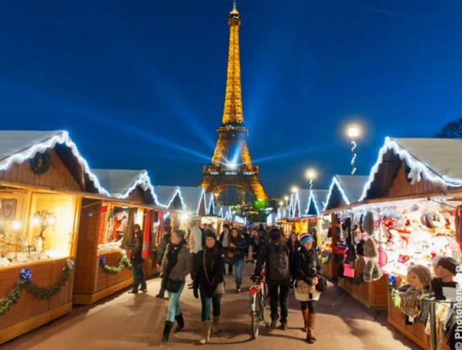 courses pour Noël à Paris